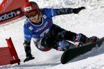 图文-单板滑雪世锦赛平行回转赛美国小将享受飞行