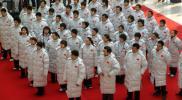 图文-07亚洲冬季运动会中国队升旗仪式队列整齐