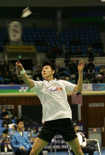 图文-韩国羽球公开赛陈金进男单决赛陈金从容不迫