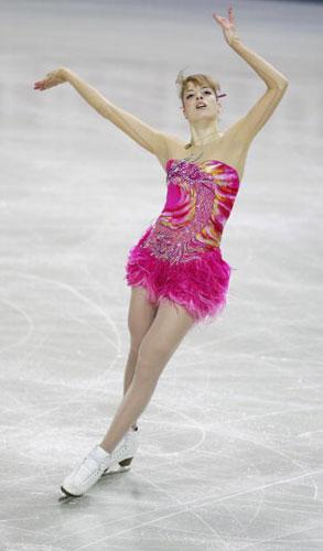 图文-花样滑冰欧锦赛27日赛况充满女性的柔美