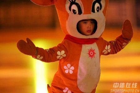 图文-亚冬会开幕式梦幻文艺表演小孩子是明天希望