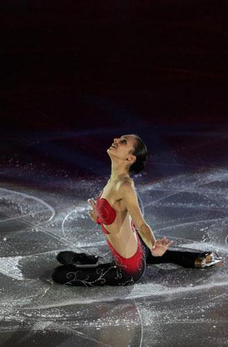 图文-花样滑冰欧锦赛28日赛况绽放在冰上的红花