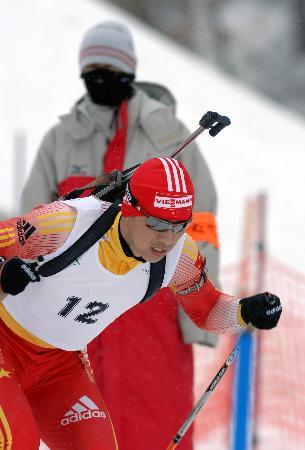 图文-冬季两项男子10公里张成烨摘银张庆夺铜牌