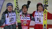 图文-北欧两项滑雪世锦赛24日男子大跳台前三名