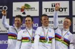 图文-场地自行车世锦赛31日赛况夺冠时刻最喜悦