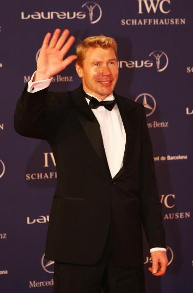 07世界劳伦斯奖颁奖典礼前F1世界冠军哈基宁