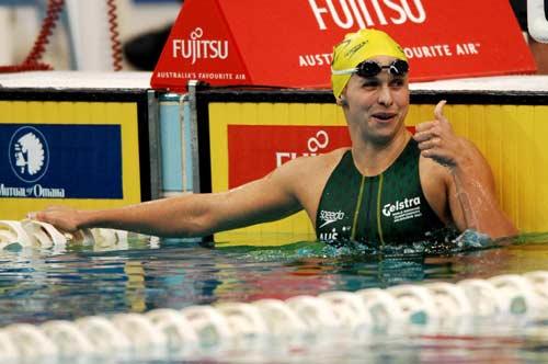 图文-美澳游泳对抗赛莱顿破世界纪录我是最棒的