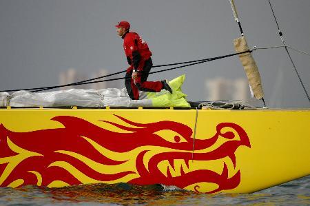 图文-美洲杯帆船赛3日赛况中国之队启航前的忙碌