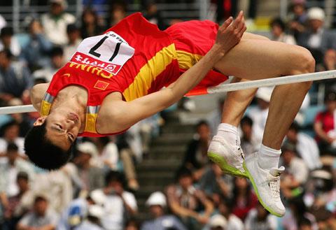 跳高_图文-大阪国际田径赛 张树峰获男子跳高第四名