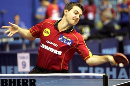 图文-世乒赛男单波尔4比0晋级次轮来一个灭一个