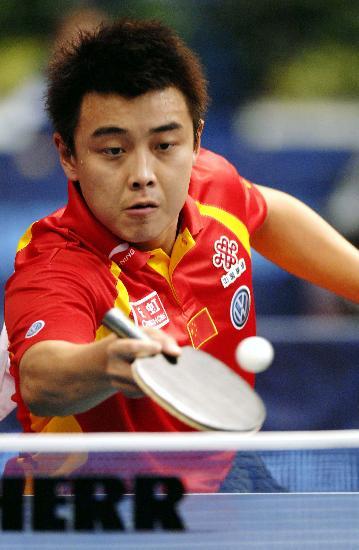 (赛况)乒乓球——世乒赛男单女子:王皓轻松晋级冠军伦敦v赛况体育图片
