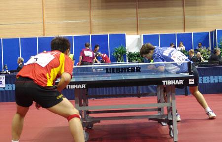 图文-世乒赛男单王皓4比0晋级次轮不惧对手出杀招