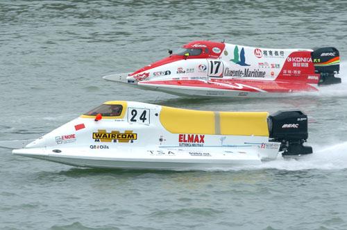 图文-F1摩托艇世锦赛法国站并驾齐驱