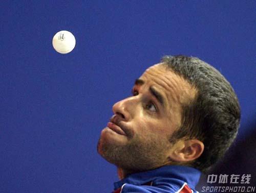 图文-世乒赛男单郝帅轻松取胜晋级我的眼中只有你