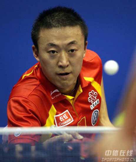 图文-世乒赛男单次轮马琳轻取对手轻松应对来球