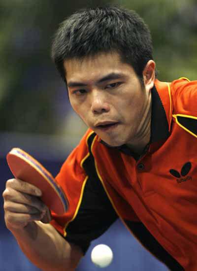 图文-世乒赛男单第二轮激战庄智渊获胜顺利晋级