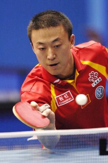 图文-世乒赛男单马琳轻松晋级网前小球动作细腻