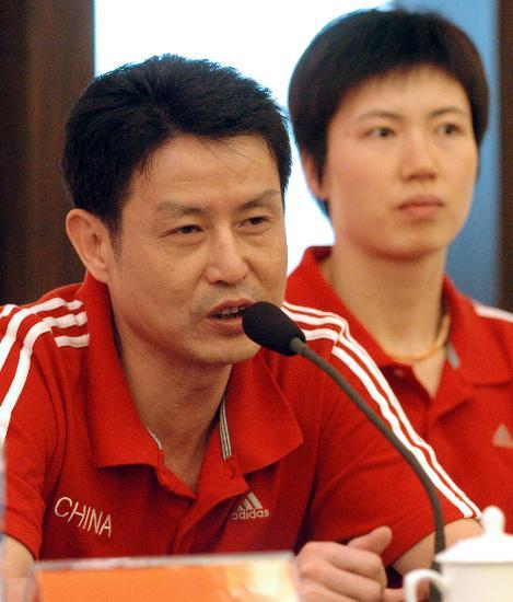 图文-女排四国赛赛前新闻发布会陈忠和笑对挑战