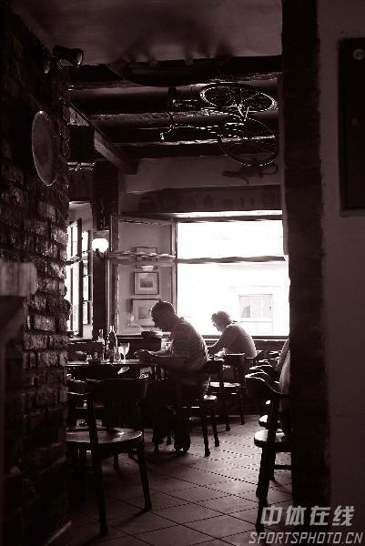 图文-世乒赛举办地萨格勒布掠影恬静的咖啡馆