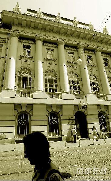 图文-世乒赛举办地萨格勒布掠影市区的古老建筑