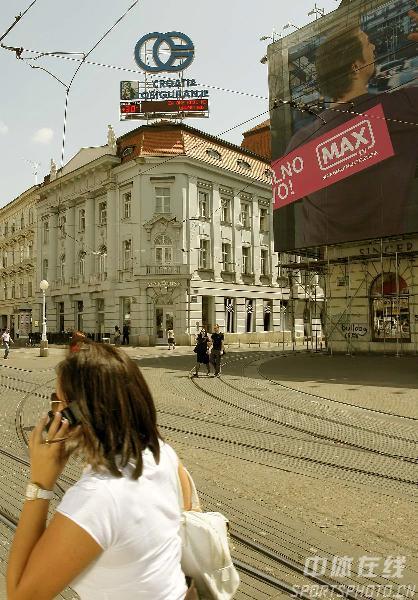 图文-世乒赛举办地萨格勒布掠影市中心的街景