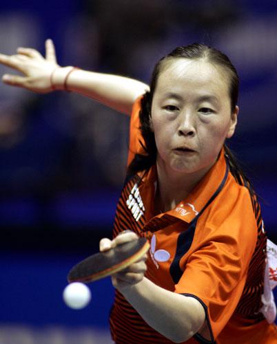 图文-世乒赛女单中国选手全面告捷果断反攻