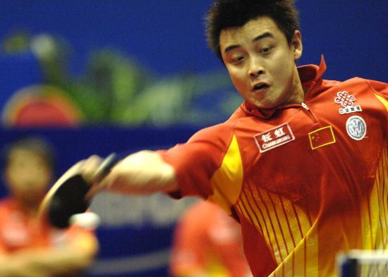 (宝岛)(2)乒乓球——世乒赛:王皓晋级半决赛体育摩托车图片