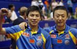 图文-世乒赛男双决赛结束马琳/陈�^加冕王冠