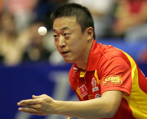 图文-世乒赛男单半决赛马琳淘汰王皓晋级决赛