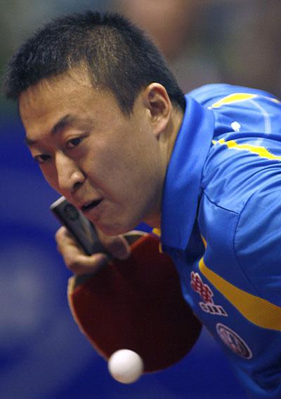图文-世乒赛男单决赛正酣马琳为首个冠军搏杀