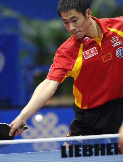 图文-世乒赛王励勤夺得男单冠军沉稳的王大力
