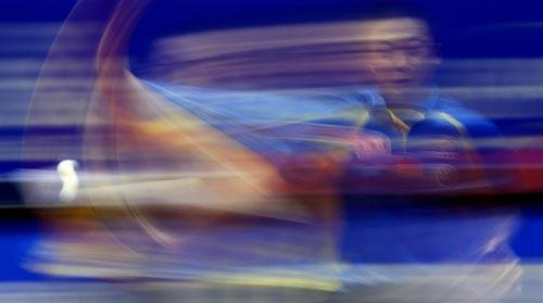 图文-世乒赛王励勤夺得男单冠军马琳和冠军擦肩过