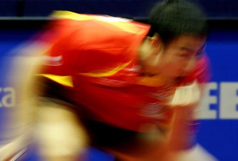图文-世乒赛王励勤夺得男单冠军魔幻一哥狂野一哥