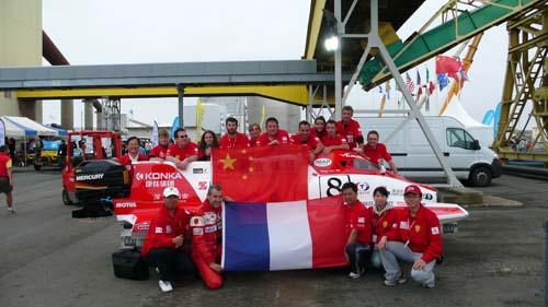 图文-F1摩托艇世锦赛法国站水上F1凝聚中法情结