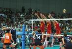 图文-精英赛中国女排3-0荷兰女排网上长城不战屈敌