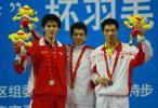 图文-十运羽球男单决赛林丹封王中国三雄并肩立