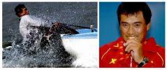 图文-十运帆船全部金牌产生刘波检验金牌成色