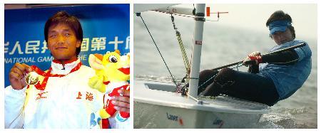 图文-十运帆船全部金牌产生池强手持银牌
