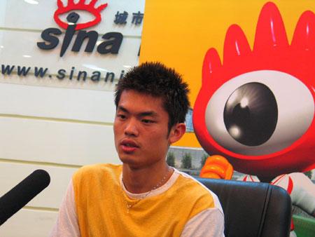 图文-超级丹做客新浪聊天林丹回答网友问题