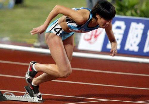 图文-[十运会]田径女子400米黄潇潇起跑瞬间