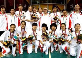 亚运会女篮中国队夺冠