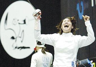剑客沈巍巍的猕猴桃之恋十运会前披上嫁衣(图)