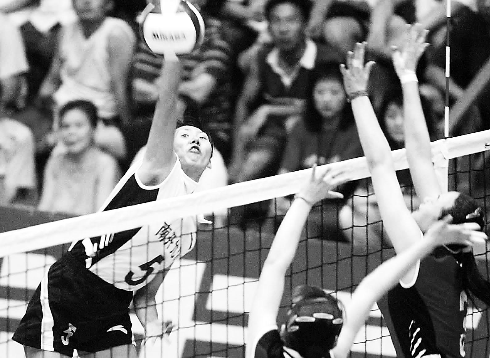 全国女排联赛 南开大学主场告捷3 0完胜广东 高清图片