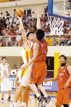 中国队悬殊比分狂扫韩国决赛将再会黎巴嫩(图)