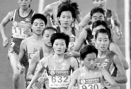跑第一拿不到金牌1500米决赛邢慧娜被取消成绩(组图)