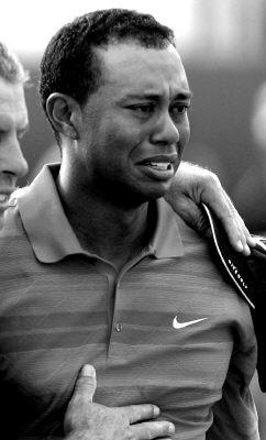 图文-2006年英国公开赛决赛轮老虎泪洒赛场
