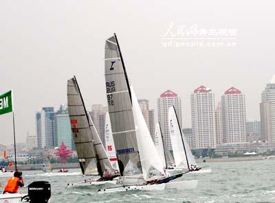 图文-2006青岛国际帆船赛决赛托纳多级帆船集合