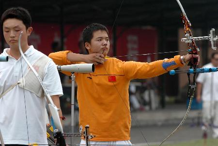 图文-全国射箭奥林匹克赛江苏陈文园获男子亚军