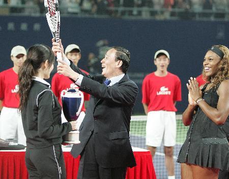 图文:网球�D�D小威获中网女单冠军(8)