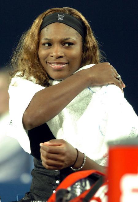图文-小威夺得首届中网女单冠军只有赢球才有笑容